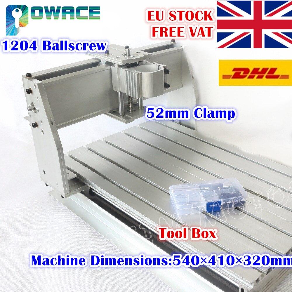 [EU Stock/Free VAT] 3040 CNC Router Desktop Milling Machine Mechanical Kit 52mm CNC Aluminium Alloy Frame Ball Screw