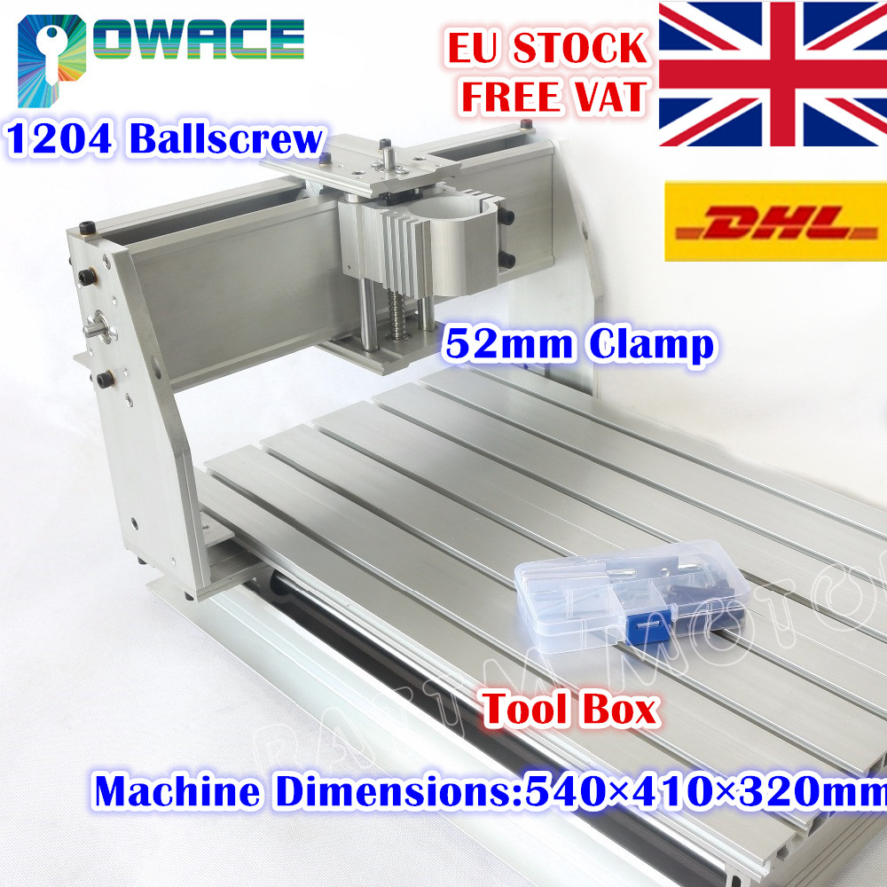 [US Sale!] 3040 CNC Router Desktop Milling Machine Mechanical Kit 52mm CNC Aluminium Alloy Frame Ball Screw