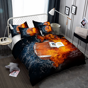 BEST.WENSD home luxury king size bedding set duvet  cover sets European and American Style  cute bed set  Microfiber Fabric