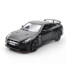 1/32 Doors-open Nissan GTR  Car Black High Simulation Alloy Diecast Car Model Pull Back Collection For Gifts 1 18 diecast model for nissan geniss livina red mpv alloy toy car miniature collection gifts