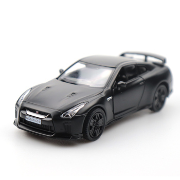 1/36 Doors-open Nissan GTR  Car Black High Simulation Alloy Diecast Car Model Pull Back Collection For Gifts maisto 1 24 2009 gtr35 white car diecast for nissan police open car doors car model motorcar diecast for men collecting 32512