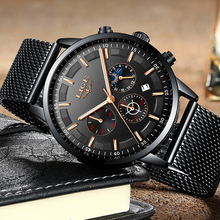 2020Relogio LIGE Mens Watches Top Brand Luxury Casual Quartz Wristwatch Men Fashion Stainless Steel Waterproof Sport Chronograph