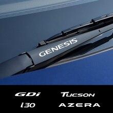 4 шт. автомобильный стеклоочиститель наклейки для hyundai Elantra Accent Tucson i40 i30 i10 i20 Veloster IX35 IX20 Solaris Genesis сантафе GDi