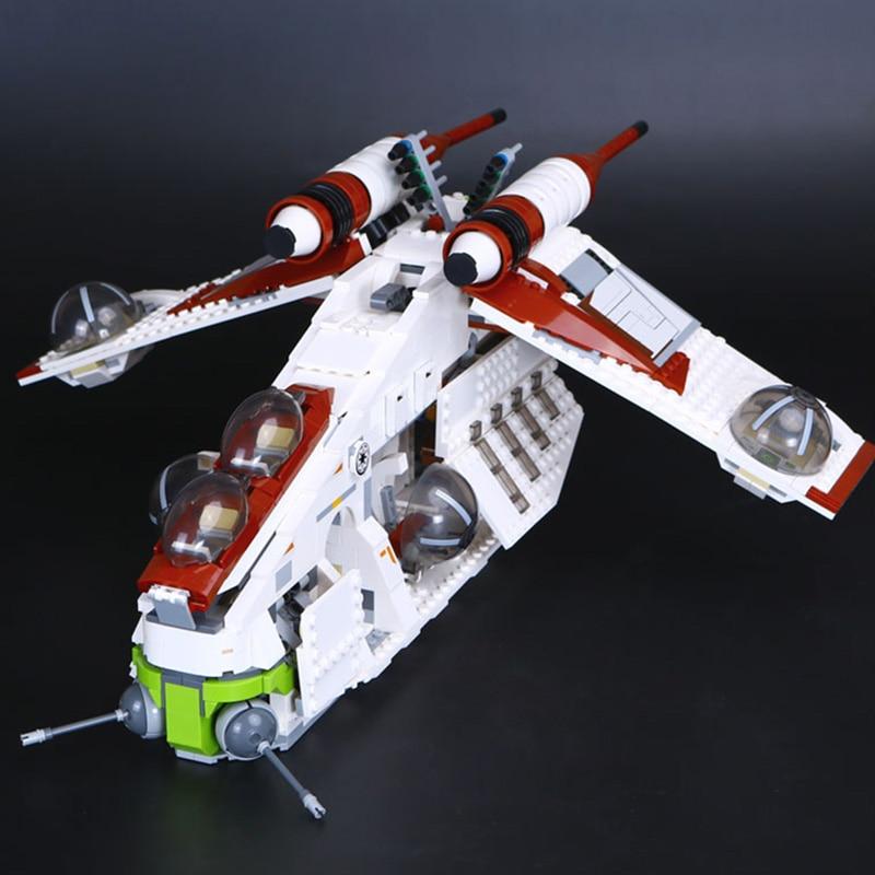 PRESELL DHL 81043 05041 Star Genuine  Series The The Republic W Gunship Set Educational Building Blocks Bricks Toys 75021 Gifts