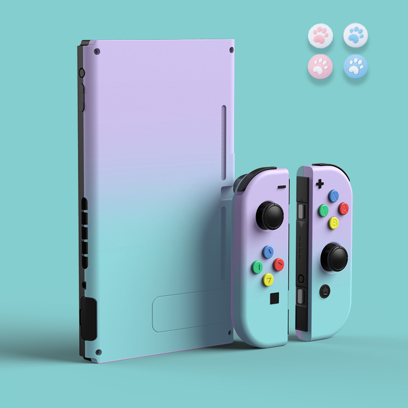 NEW Joycon Shell Gradient Color Protective Case Hard Housing Full Cover Shell For Nintend Switch Joycon Colorful Back Cover
