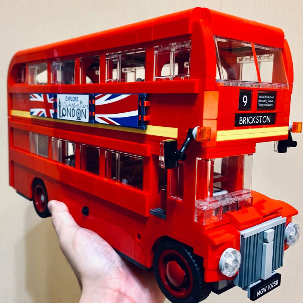 21045 City Creator Expert Compatible With Iegoset 10258 London Bus Model Building Blocks Educational Bricks Toys Christmas Gift