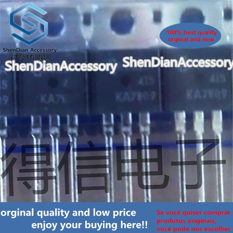 10pcs 100% Orginal KA7809 L7809 TO-220 3-Terminal 1A Positive Voltage Regulator Real Photo