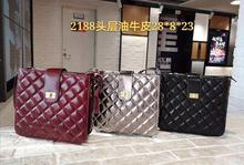free shipping the new style Popular in Europe and America genuine cow leather women one shoulder bag crossbody bag 3 color 28 cm the new europe and the united states imported genuine leather single shoulder bag handbag free shipping page 7