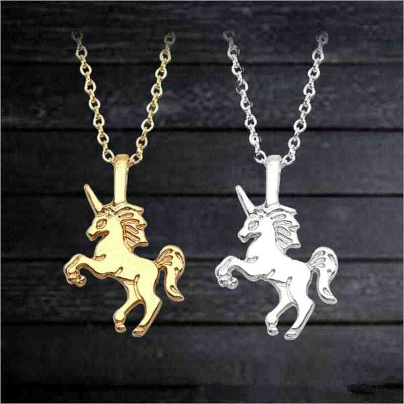 Accessories Fashion Popular Jewelry Pendant Gift Women Unicorn Necklace Necklace Simple Temperament Clavicle Chain Wholesale
