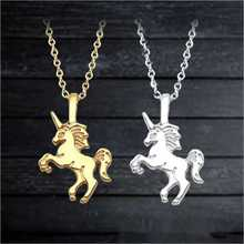 Accessories Fashion Popular Jewelry Pendant Gift Women Unicorn Necklace Necklace Simple Temperament Clavicle Chain Wholesale цены