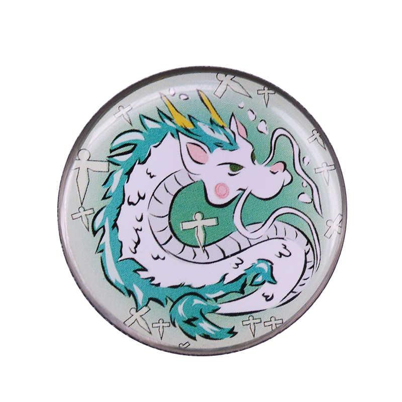 Dragon Haku Button Badge Beautiful Ghibli Spirited Away Anime Fans Decor Brooches Aliexpress