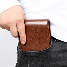 Portfele męskie oryginalne skórzane etui na karty kredytowe Retro wizytówki portfel męskie krótkie portfele portfel tanie tanio Prawdziwej skóry Skóra bydlęca CN (pochodzenie) 120g Poliester genuine leather Stałe vintage dfgfg1255 Wnętrza przedziału