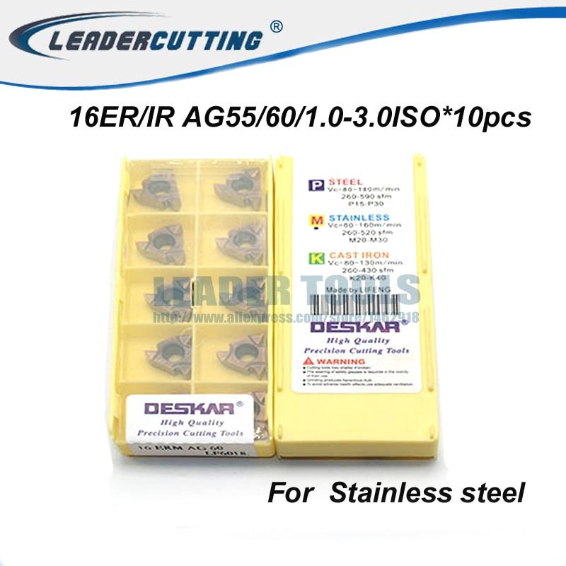 DESKAR 10P 16IRM 11 W LF6018 CNC Threading Carbide Insert FOR-Steel parts