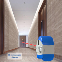 30M Laser Rangefinder with LCD Display + 5M Anti fall Steel Tape Metric and Inch Tape measure High Precision Distance Meter