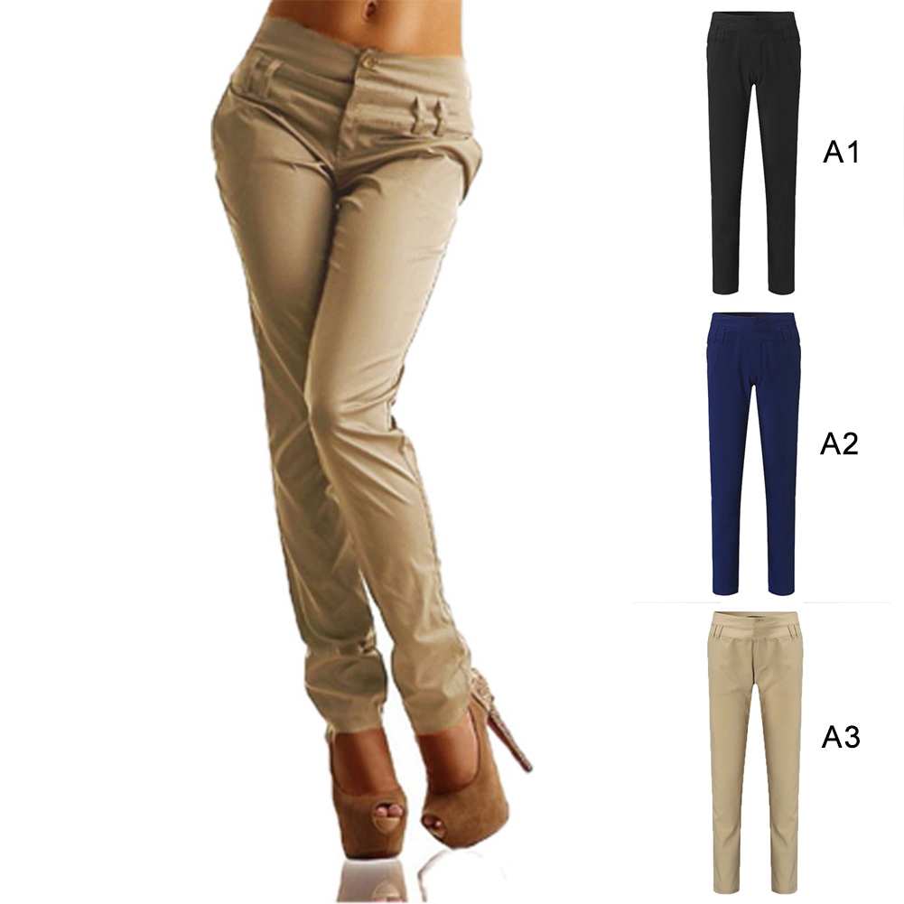 Fashion Woman High Waist Pencil Pants European And American Style Casual Pant Office Ladies Pants Black Plus Size S-5Xl
