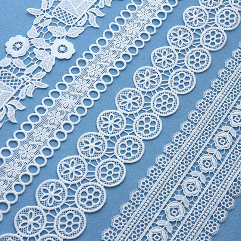 7yard Lace Ribbon Decoration Trim Applique For Scarf Costumes Dresses Trimmings Lace Fabric Embroidery Strip Sewing On Underwear