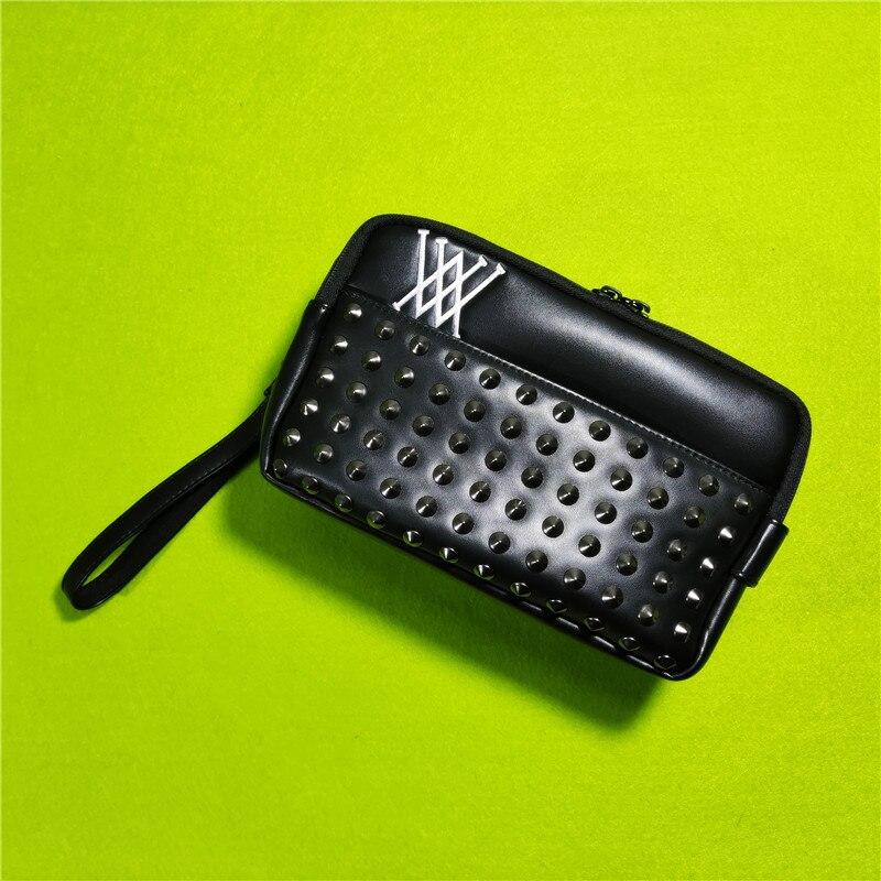 Golf Handbag  Mass Rivets Cool Fashion Design Portable Accessory Storage-Bag for Keys Cellphone Pouch 2