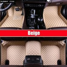 SUNNY FOX автомобильные коврики для BMW X5 E70 F15 ПВХ кожа противоскользящие водонепроницаемые наклейки для автомобилей полное покрытие ковры Солнечный ковер с изображением лисы вкладыши