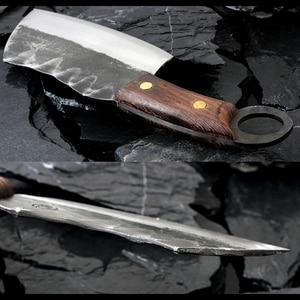 Image 2 - XITUO cuchillo de Chef japonés de alta forja de acero revestido de carbono, cuchillo de Chef Santoku, cuchillo antiadherente Nakiri Cleaver Gyuto Kiritsuke