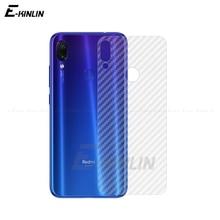 цена на Clear Soft Carbon Fiber Protective Back Film For Xiaomi Redmi Note 7 5 Pro AI Plus Mi 9 8 SE 6 Rear Screen Protector No Glass