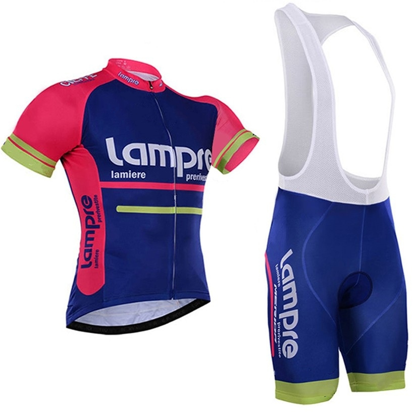 2016 Pro Team Lampre Cycling Jersey Set Breathable Summer Short Sleeve Bike Clothing MTB Ropa Ciclismo Bicycle Maillot GEL