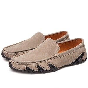 Image 5 - Без шнуровки на осень; Повседневная мужская кожаная обувь, мокасины Homme женская обувь на плоской подошве женские лоферы без застежки; Женские туфли лодочки с вождения мокасины 2020 Новинка; Лидер продаж по доступной цене