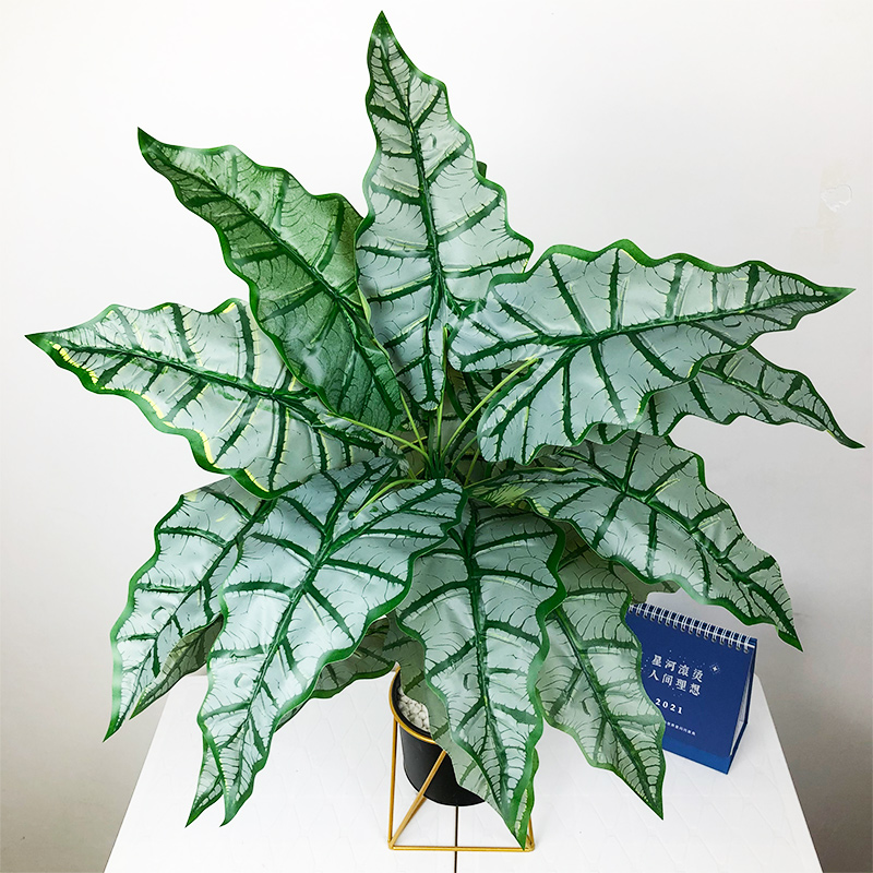 76cm/55cm Large Artificial Monstera Tropical Plants Fake Palm Tree Plastic Maranta Leaves Big Plant for Home Office Decoration-3