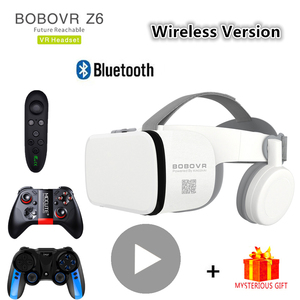 Bobo Bobovr Z6 Bluetooth Casque Helmet 3D VR Glasses Virtual Reality Headset For Smartphone Smart Phone Goggles Viar Binoculars(China)