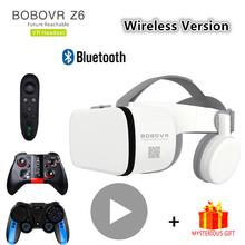Bobo Bobovr Z6 Casque kask 3D VR okulary wirtualna rzeczywistość zestaw słuchawkowy do iphone #8217 a smartfon z androidem inteligentny telefon gogle luneta zestaw tanie tanio Brak Smartfony Lornetka Wciągające Virtual Reality Bobo VR Bobovr Z6 Wireless Bluetooth Kontrolery Zestawy Pakiet 1 Virtual reality glasses for mobile games vr set