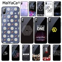 MaiYaCa EXO Logo Tempered Glass Phone Case For iPhone 11 Pro XR XS MAX 8 X 7 6S 6 Plus(China)