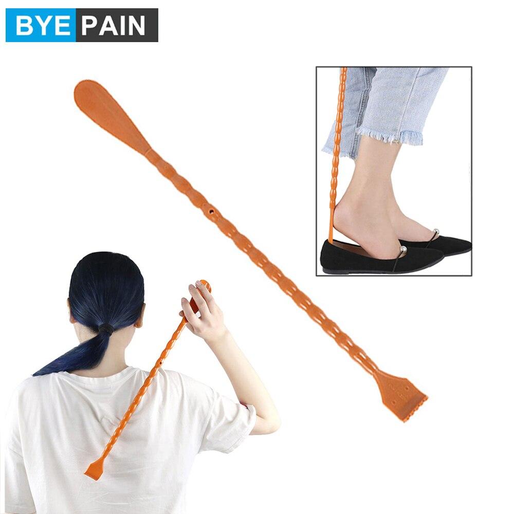 BYEPAIN 1 шт. 2 в 1, скребок для спины, многофункциональный рожок для обуви с длинной ручкой, рожок для спины с ручкой