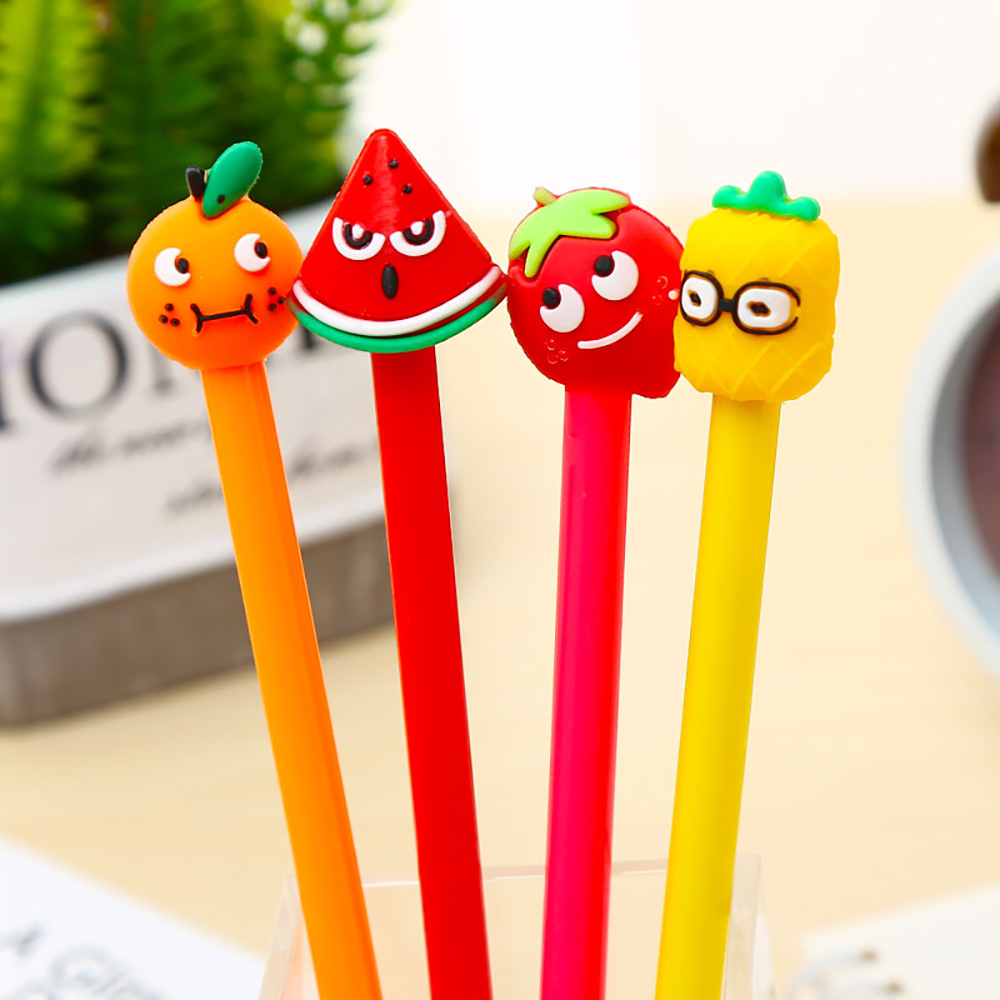 Cool Funny Kawaii Cute Gel Pen Strawberry Watermelon Blue Kawai Stationery Store School Supply Stationary Office Accessory Thing