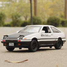Initial D AE86 Metal Alloy Diecast Cars Model Inital Toy Car Vehicles RX7 Pull Back 1:28 Light For Children Boy Toys