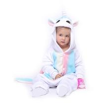 Детский комбинезон кигурумис с радужным единорогом; Пижама с животными; одежда для сна для мальчиков и девочек; комбинезон для малышей; детская Карнавальная одежда; один предмет