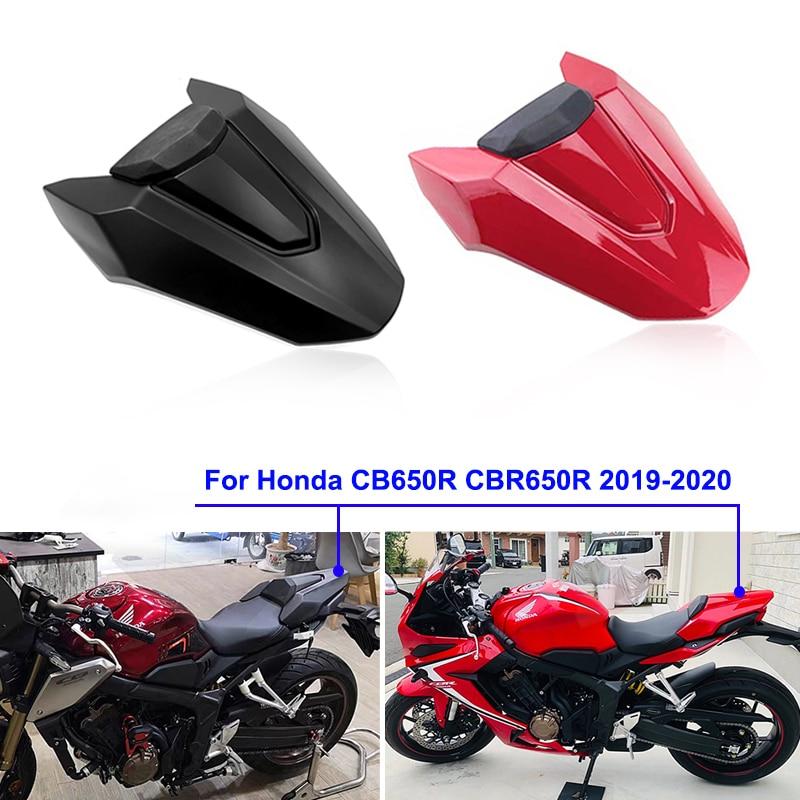 Color : Carbon Fiber Pattern Motorradabdeckung Fit for Honda CB650R CBR650R 2019 2020 Motorrad-hintere Sitzabdeckungs-hintere Endst/ück-Schutz CBR 650 R Rear Soziusabdeckung