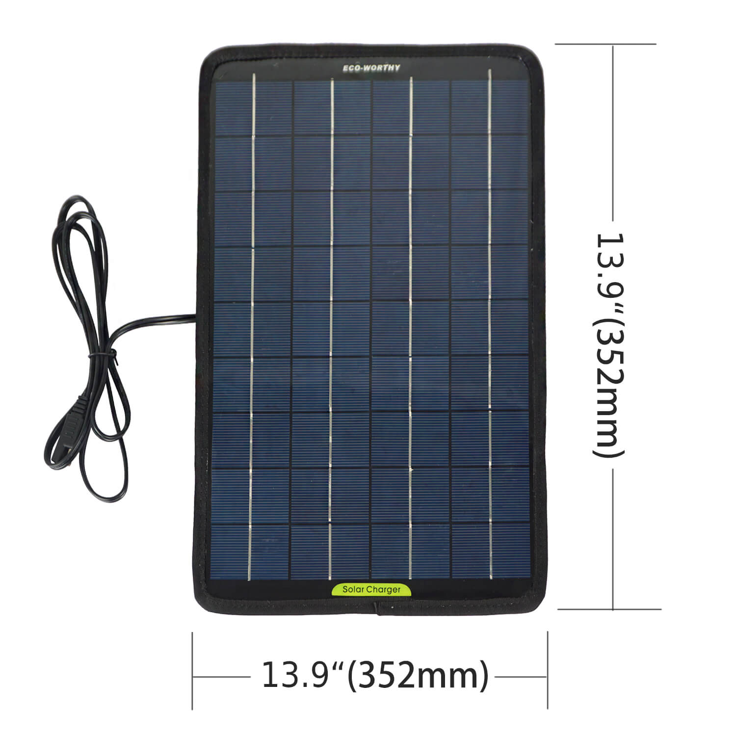 ECO-WORTHY 12 Volts 5 Watts Portable Power Solar Panel Battery Charger Backup