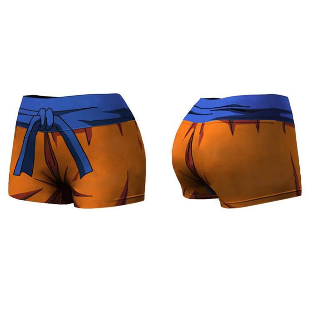Cartoon Dragon Ball Z Naruto Goku Hot Women Summer Short Pants Elastic Waist Patchwork Casual Beach Party Shorts