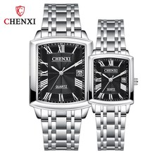 CHENXI Fashion Couples Full Steel Watches Top Brand Luxury Men Women Quartz