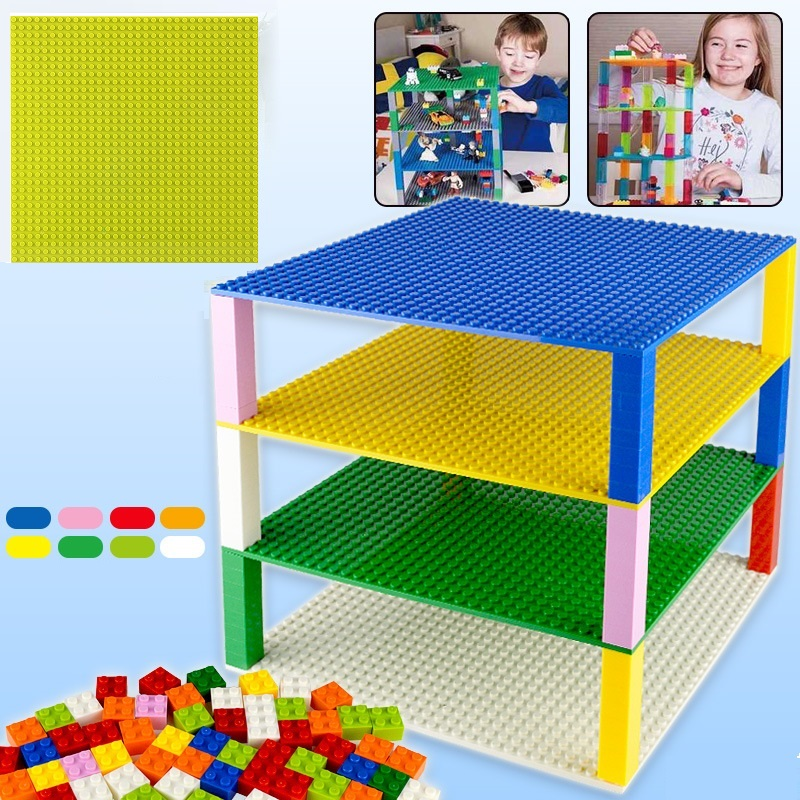 Base Plate <font><b>32*32</b></font> 16X32 Dots Double-sided Base Building Blocks Baseplate DIY Compatible LEGOs Plate Base Classic Bricks Kids Toys image