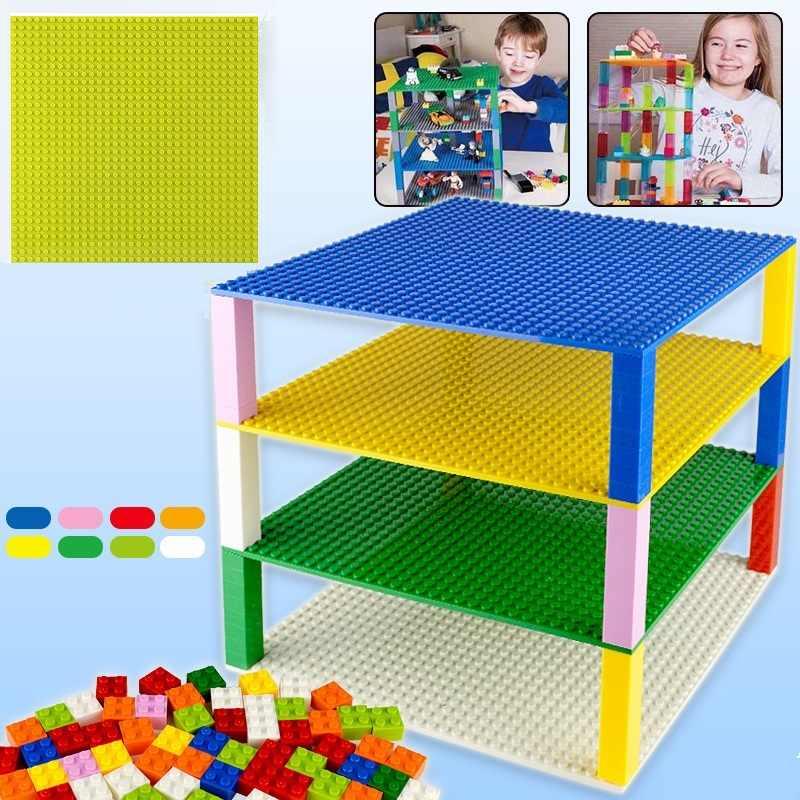 Piastra di Base 32*32 16X32 Dots Double-sided Blocchi di Costruzione di Base Piastra di Base FAI DA TE Compatibile Lego Piatto base Classic Mattoni Bambini Giocattoli