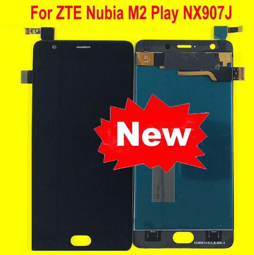 100% Tested Best Working LCD Display Touch Panel Screen Digitizer Assembly For ZTE Nubia M2 Play NX907 NX907J Phone Sensor(China)