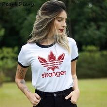 Stranger Things Season 3 T Shirt Women Upside Down Tshirt Friends Don't Lie Run Female Graphic T-shi