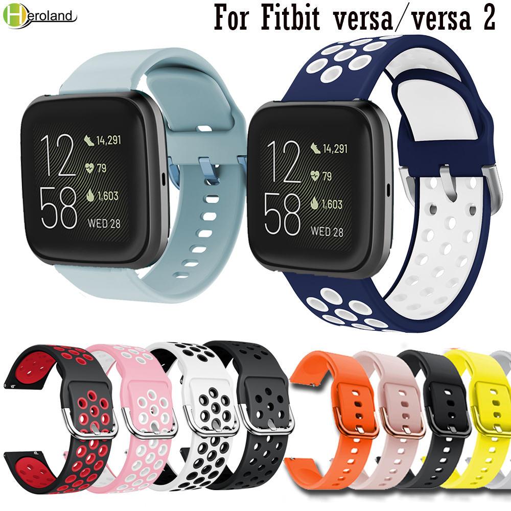 Watch Strap For Fitbit Versa2 Wrist Band Sport Silicone Breathable Watchband For Fitbit Versa / Versa Lite Bracelet Belt Correa