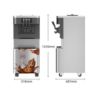 Handlowa maszyna do lodów pionowa w pełni automatyczny stożek pulpit małe miękkie producenci lodów tanie i dobre opinie COOPER 101-150 w 1501 ml COOPER-ICE Własny chłodzenia 2000W R22 750g 18-28L H 518x687x1250mm 100Kg