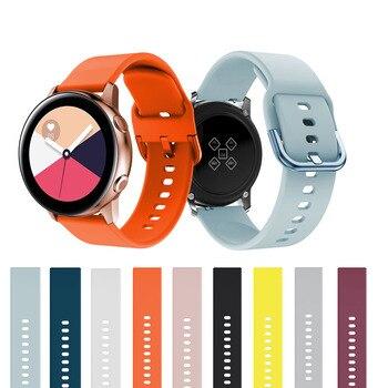 20mm Watch Strap FOR Samsung Galaxy Active 2 40/44mm 3 41mm Gear sport wrist bracelet watchband samsung galaxy watch 42mm - discount item  42% OFF Watches Accessories