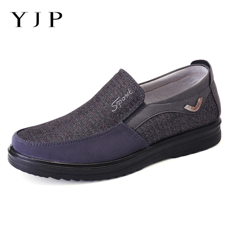 YJP Casual-Shoes Shoe-Size39-48 Flat-Loafers Spring Fashion Summer Mens Brand Canvas