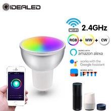 Светодиодная wifi умная лампа e27 gu10 лампочка bombillas rgbw