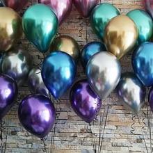 Metallic Balloons Party-Decor Helium-Air-Balls Pearl-Latex Globos Birthday Chrome 10pcs