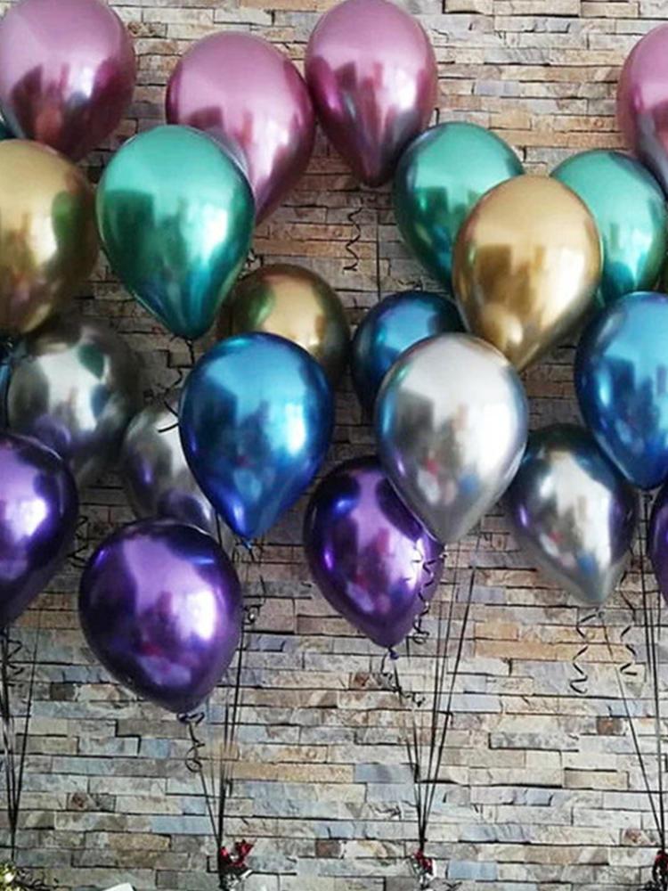 Metallic Balloons Party-Decor Helium-Air-Balls Pearl-Latex Globos Birthday Chrome Thick