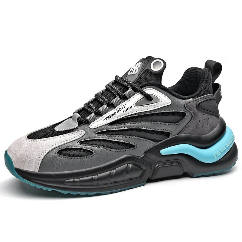 Для мужчин кроссовки Повседневное Ins тренд громоздкий кроссовок мужская дышащая спортивная обувь светильник мягкие Dorky папа обувь Size39-46 бес...